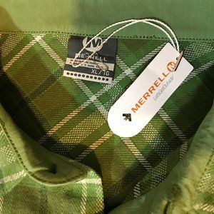 Merrell Shirts - Merrell NWT Green/White Plaid Flannel Shirt